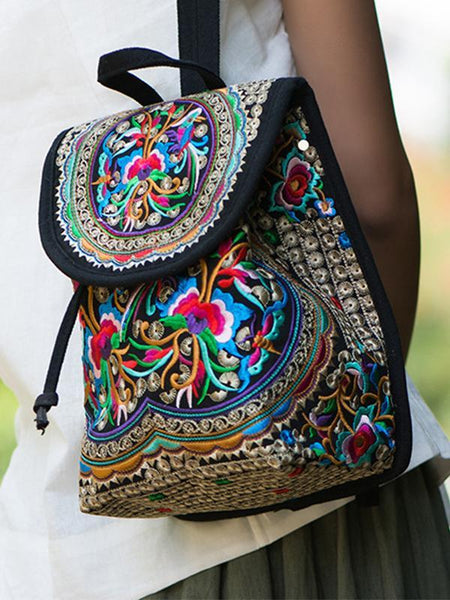 National Exquisite Embroidered Mini Shoulder Bag