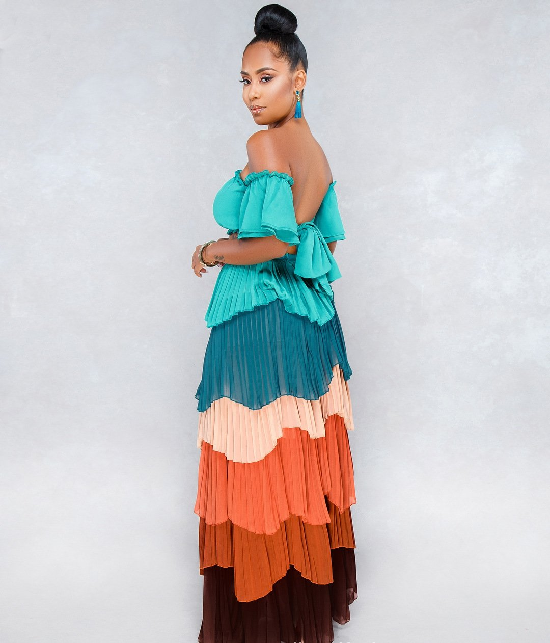 cd07141014d Sexy Africa Cake Chiffon Pleated skirt + Tube Top 2-piece – Wearways