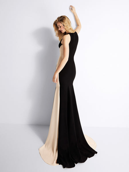 Sleeveless Mermaid Evening Party Maxi Dress