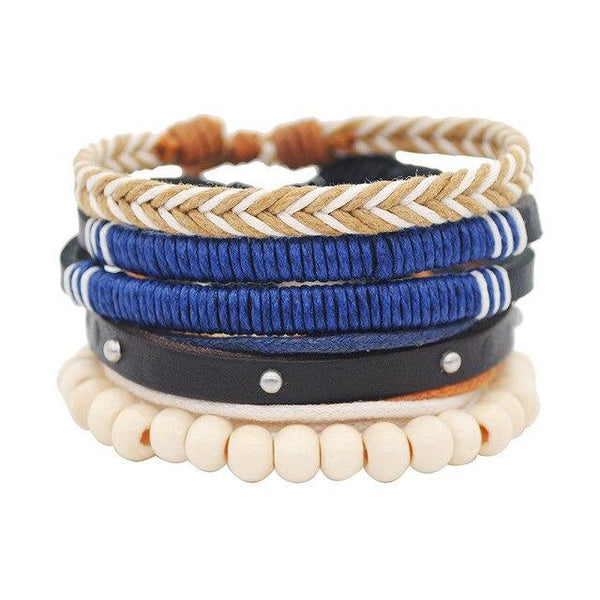Vintage Multilayer Leather Handmade Rope Braided Bracelet