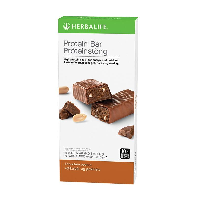 Protein Bars Chocolate Peanut 14 bars per box - Nutrition-Bodycare.com
