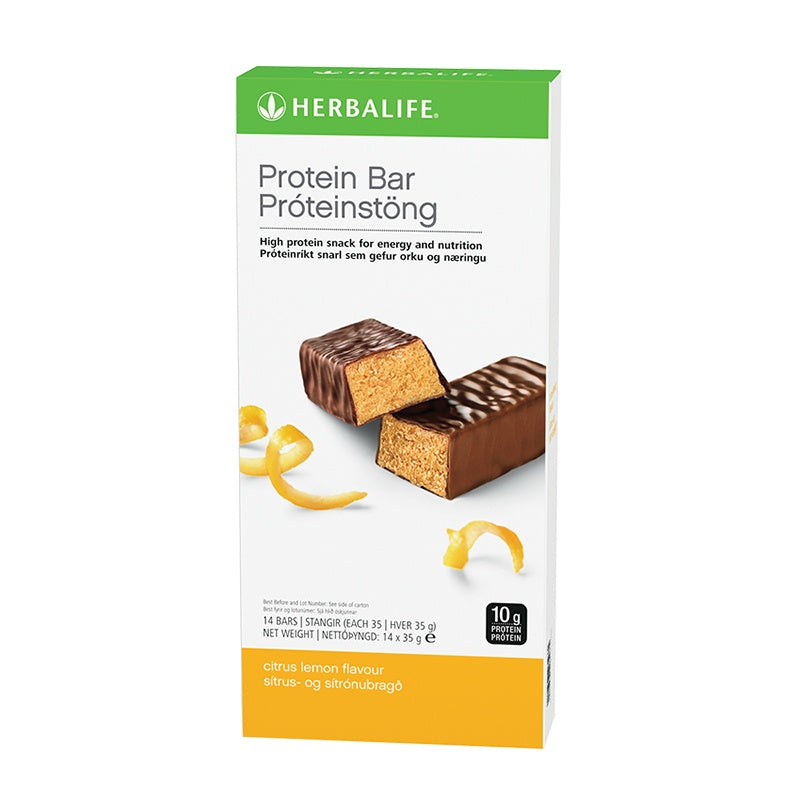 Protein Bars Citrus Lemon 14 bars per box - Nutrition-Bodycare.com