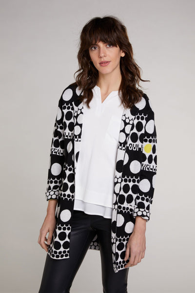 Dotted Knit Long Cardi-Cardigan-Jenny's Boutique