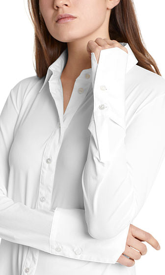 Stretch Collared Blouse-Blouse-Jenny's Boutique