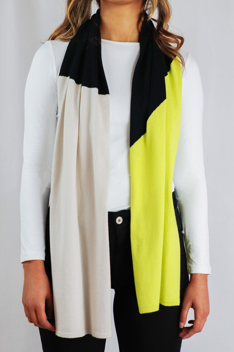LIME BLACK SCARF-Scarf-Jenny's Boutique
