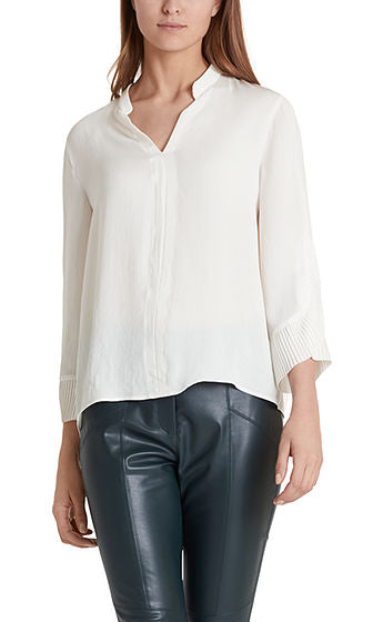 Blouse with Pleated Sleeve-Blouse-Jenny's Boutique