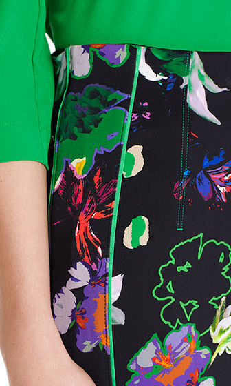 Print Skirt in Scuba Fabric-Skirt-Jenny's Boutique