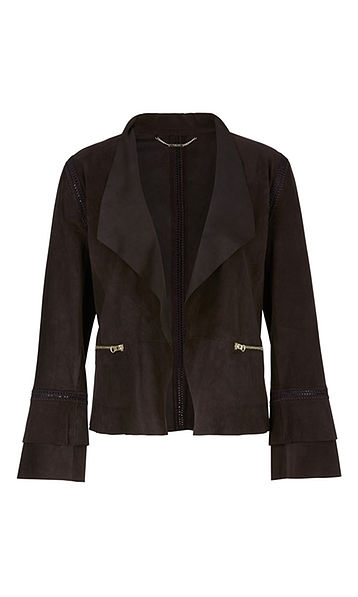 Suede Leather Jacket-Jacket-Jenny's Boutique