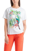 T-shirt with Floral Motif-Top-Jenny's Boutique