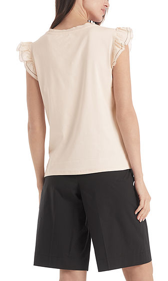 Top with Frill Sleeve-Top-Jenny's Boutique
