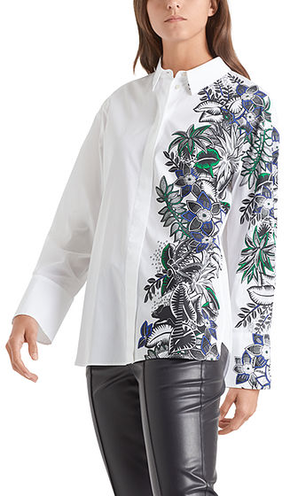 Cotton Shirt with Striking Print-Shirt-Jenny's Boutique