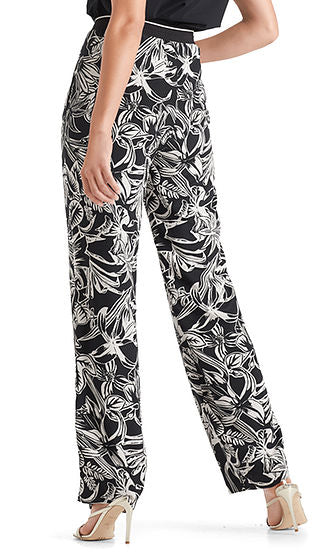 Silk Print Trousers-Trousers-Jenny's Boutique