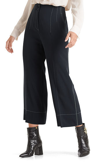 High Waist Wide Leg Culottes-Trousers-Jenny's Boutique