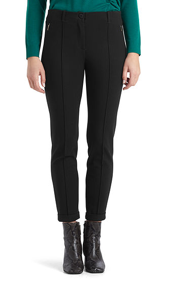 Slim Fit Jersey Pants (Tomato)-Trousers-Jenny's Boutique