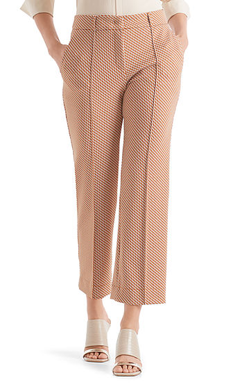 Cropped Jacquard Pants-Trousers-Jenny's Boutique