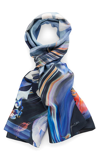 Blue Pattern Scarf-Scarf-Jenny's Boutique