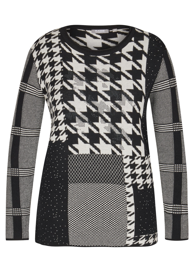 Houndstooth Sweater-Sweater-Jenny's Boutique