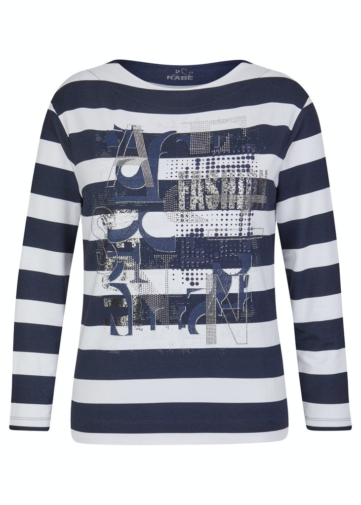 Striped Jersey Sweater-Sweater-Jenny's Boutique