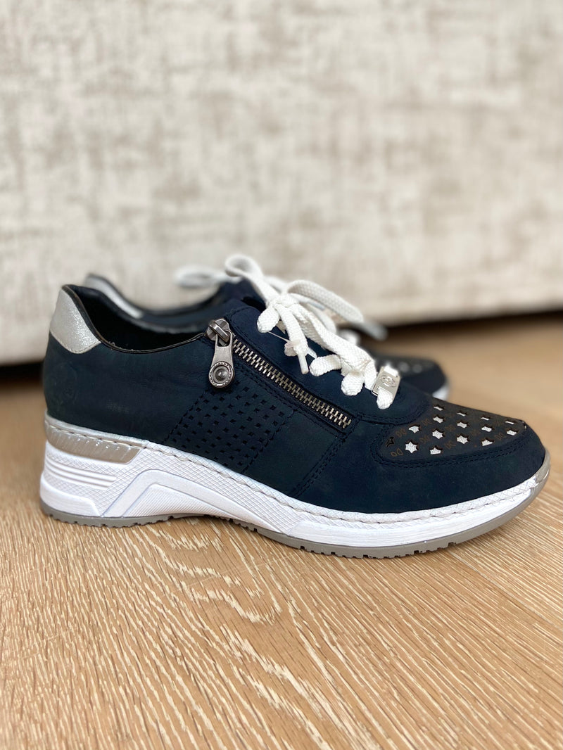 Navy Wedge Trainers-Wedge-Jenny's Boutique