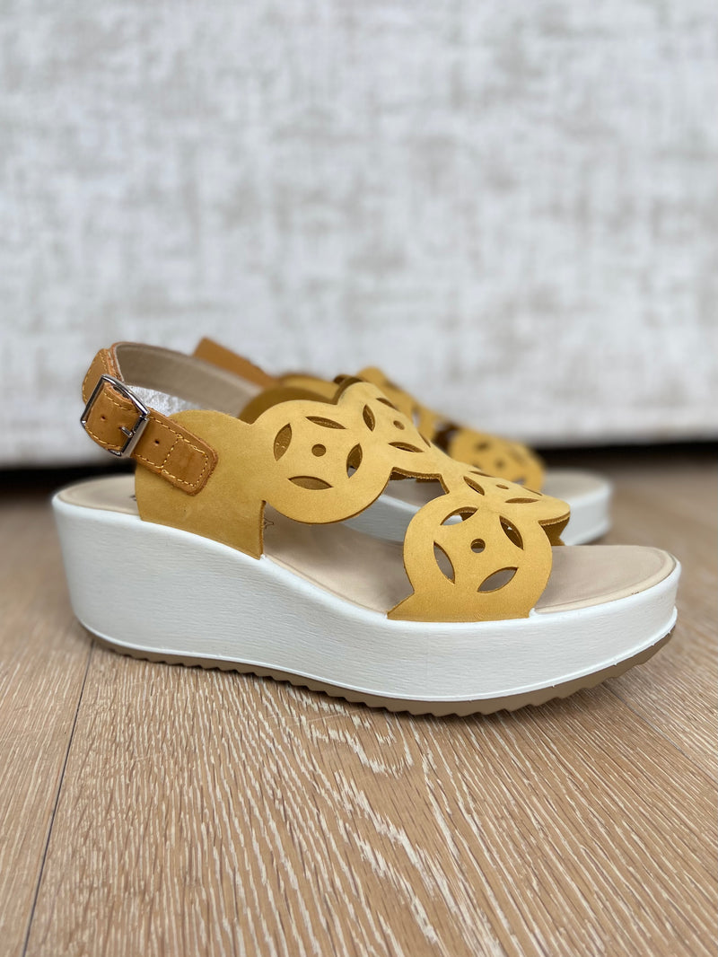 Wedge Sandal with Perforated Detail-Wedge-Jenny's Boutique
