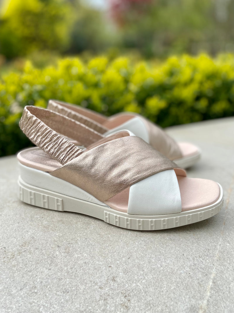Wedge Sandal with Crossover Straps-Wedge-Jenny's Boutique