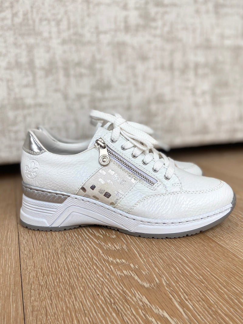 White Wedge Trainer-Wedge-Jenny's Boutique