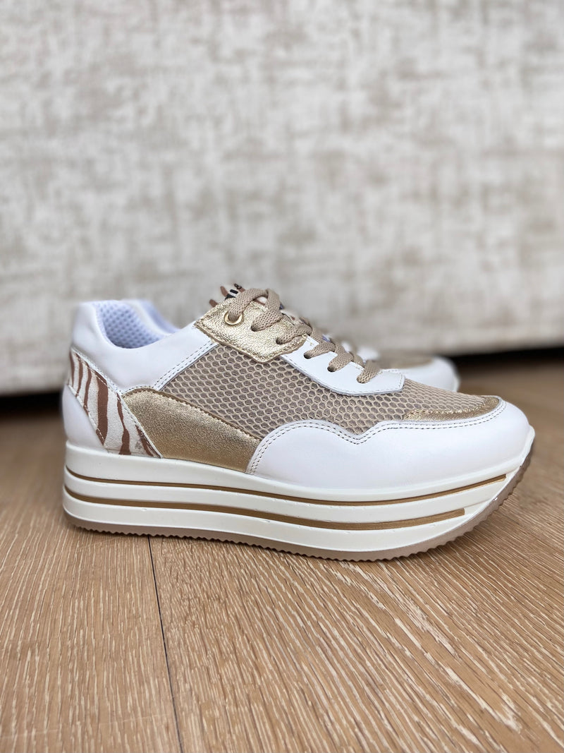 White and Gold Trainer-Trainer-Jenny's Boutique