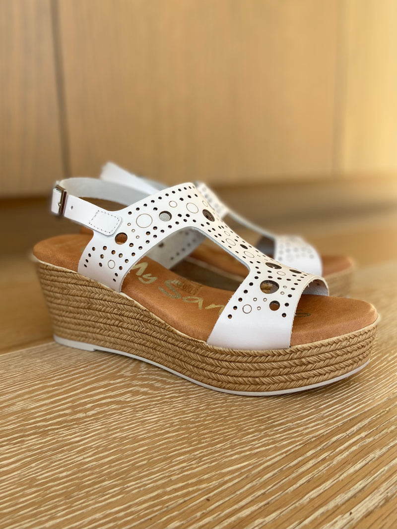 Wedge Sandal with T Bar Strap-Sandal-Jenny's Boutique