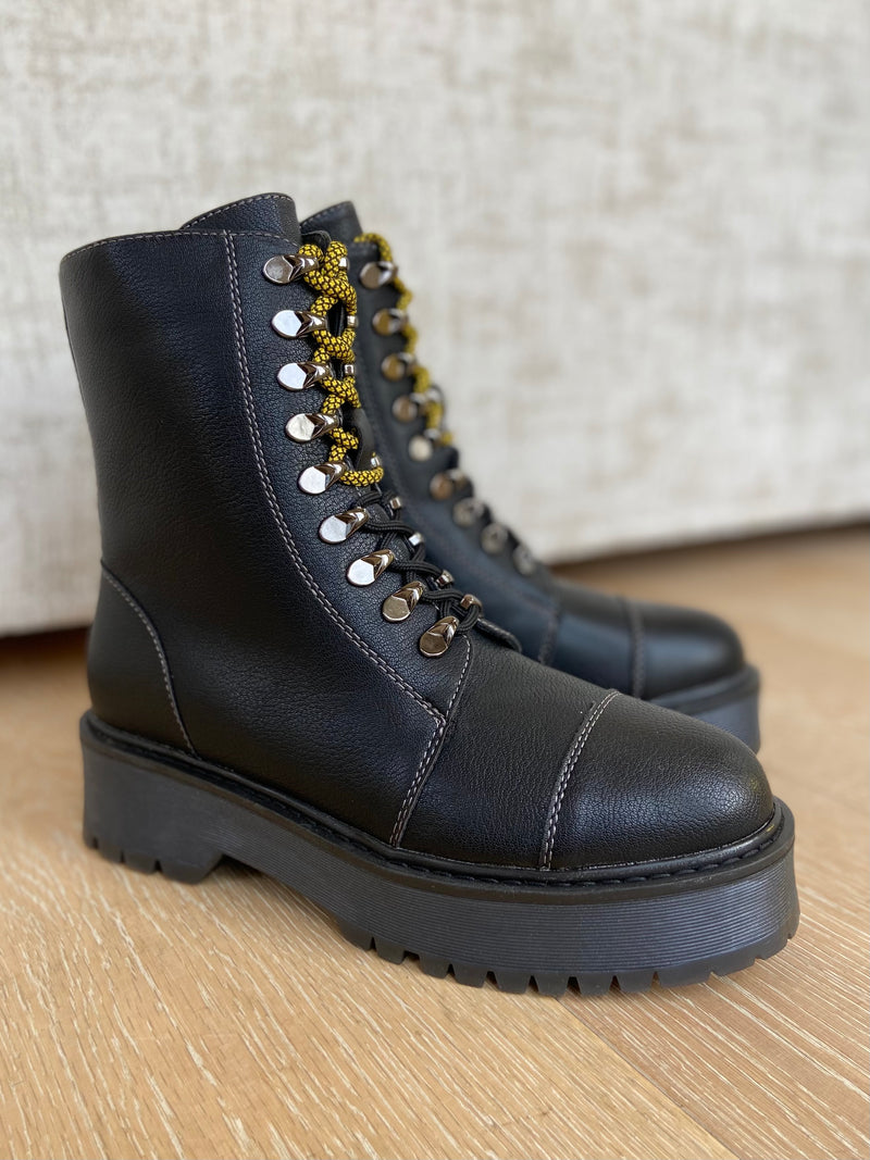 MILITARY PLATFORM BOOT-Boots-Jenny's Boutique