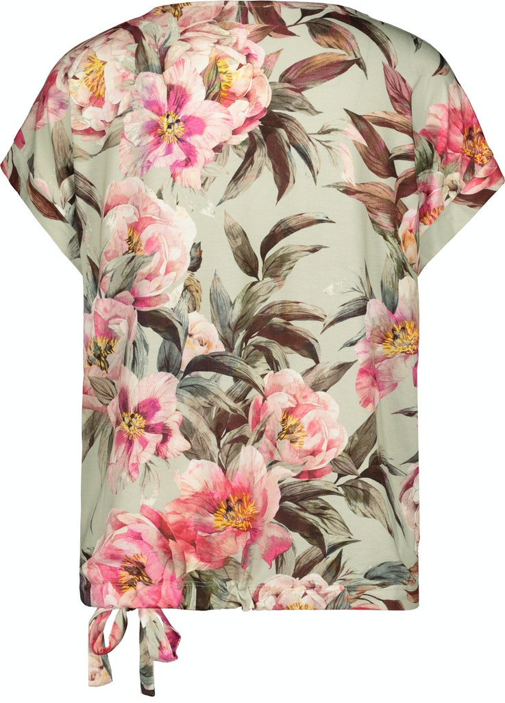 V Neck Floral Drawstring top-Top-Jenny's Boutique