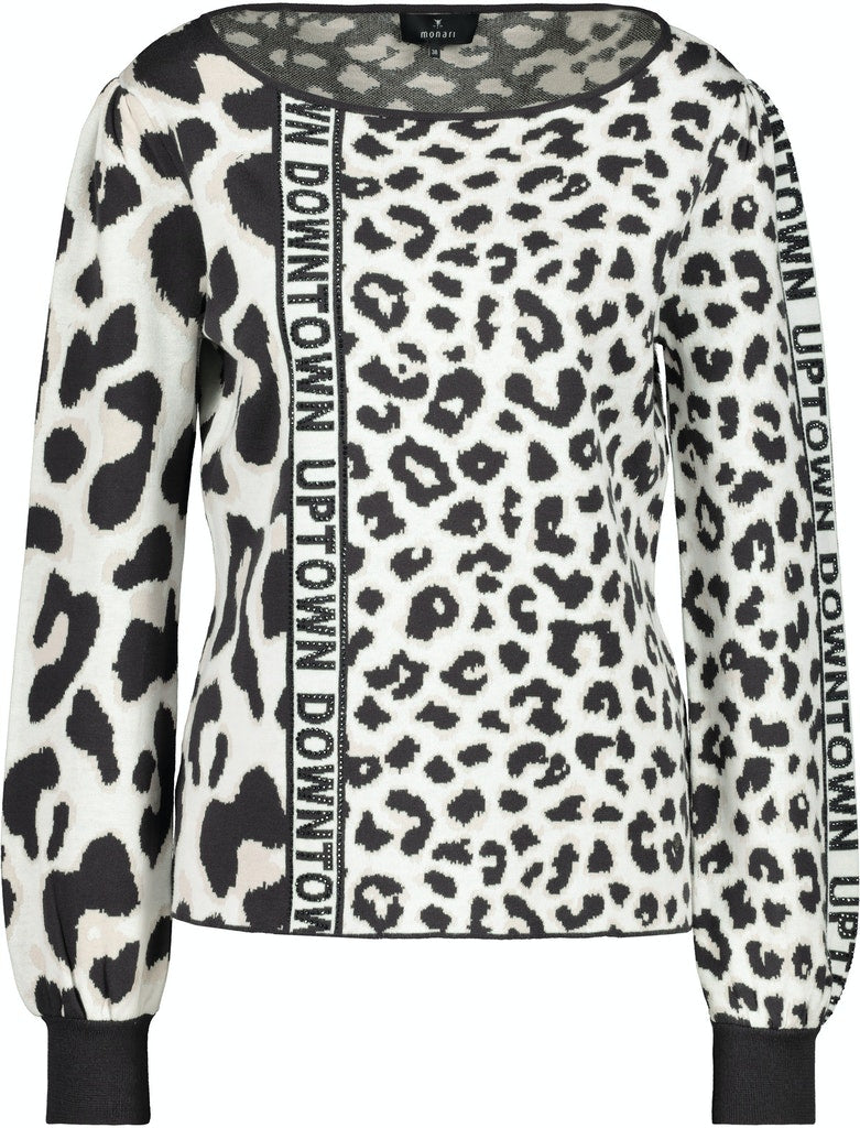 Animal Print Sweater-Sweater-Jenny's Boutique