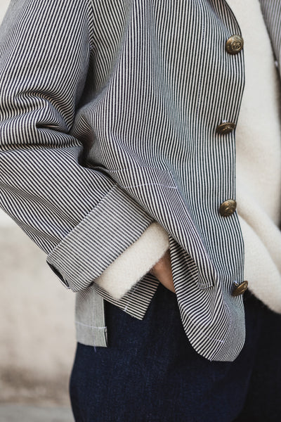 French stripe Jacket Cotton