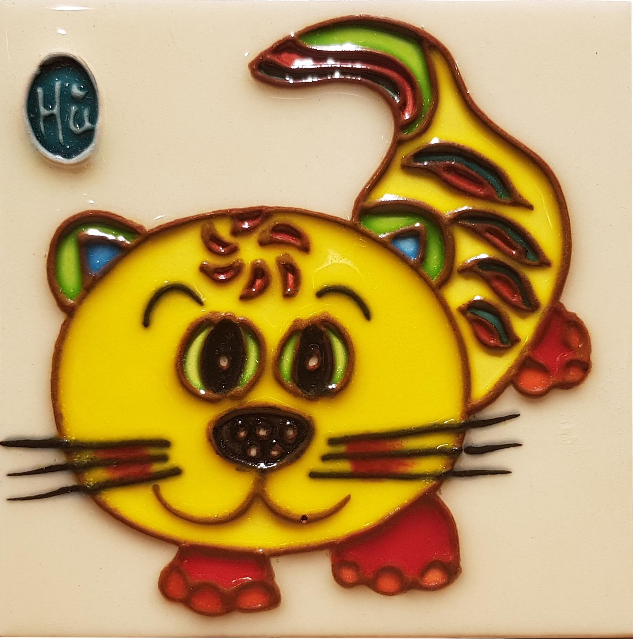 1183 Horoscope Tiger 10cm x 10cm Ceramic Tile