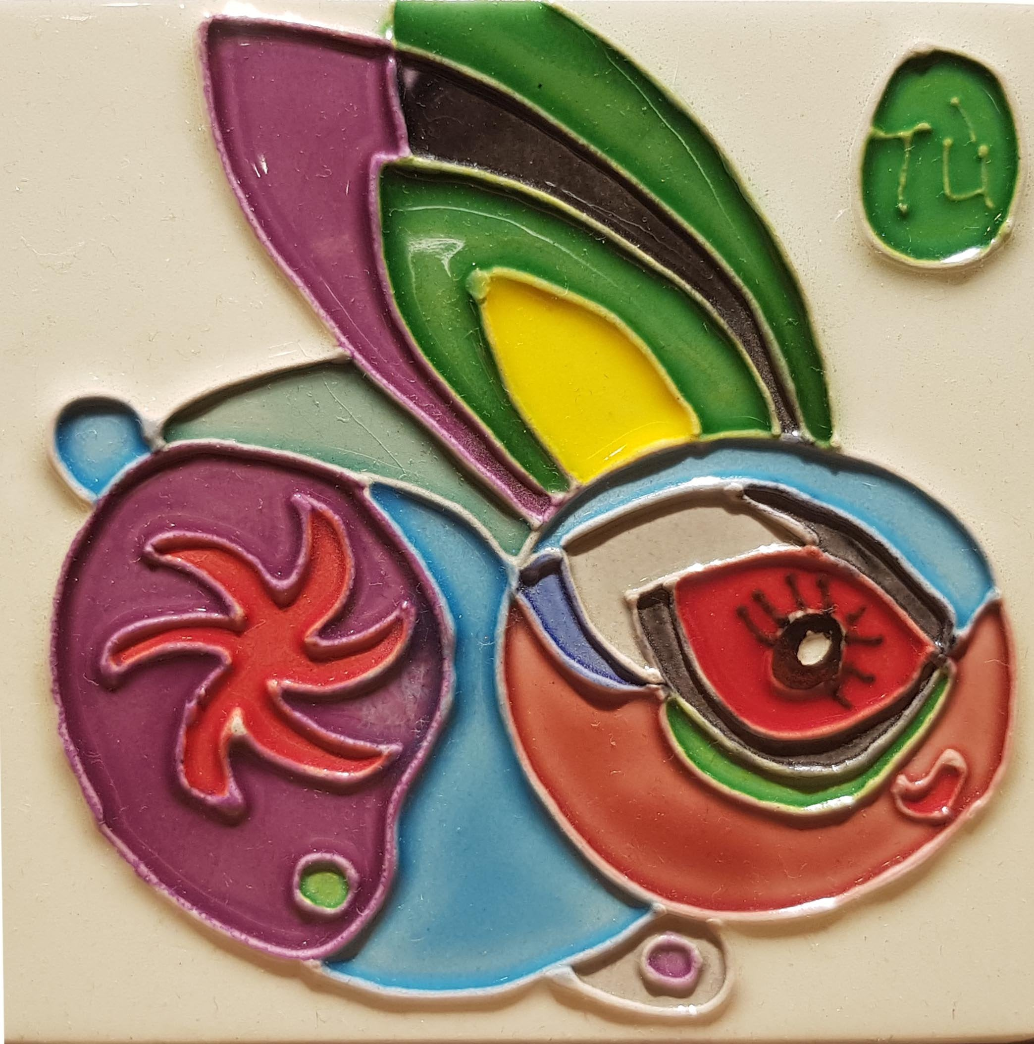 1184 Horoscope Rabbit 10cm x 10cm Ceramic Tile