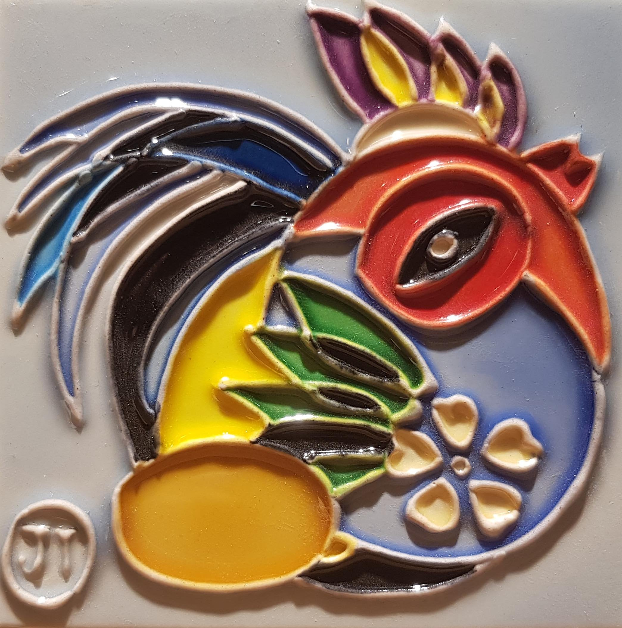 1190 Horoscope Chicken 10cm x 10cm Ceramic Tile