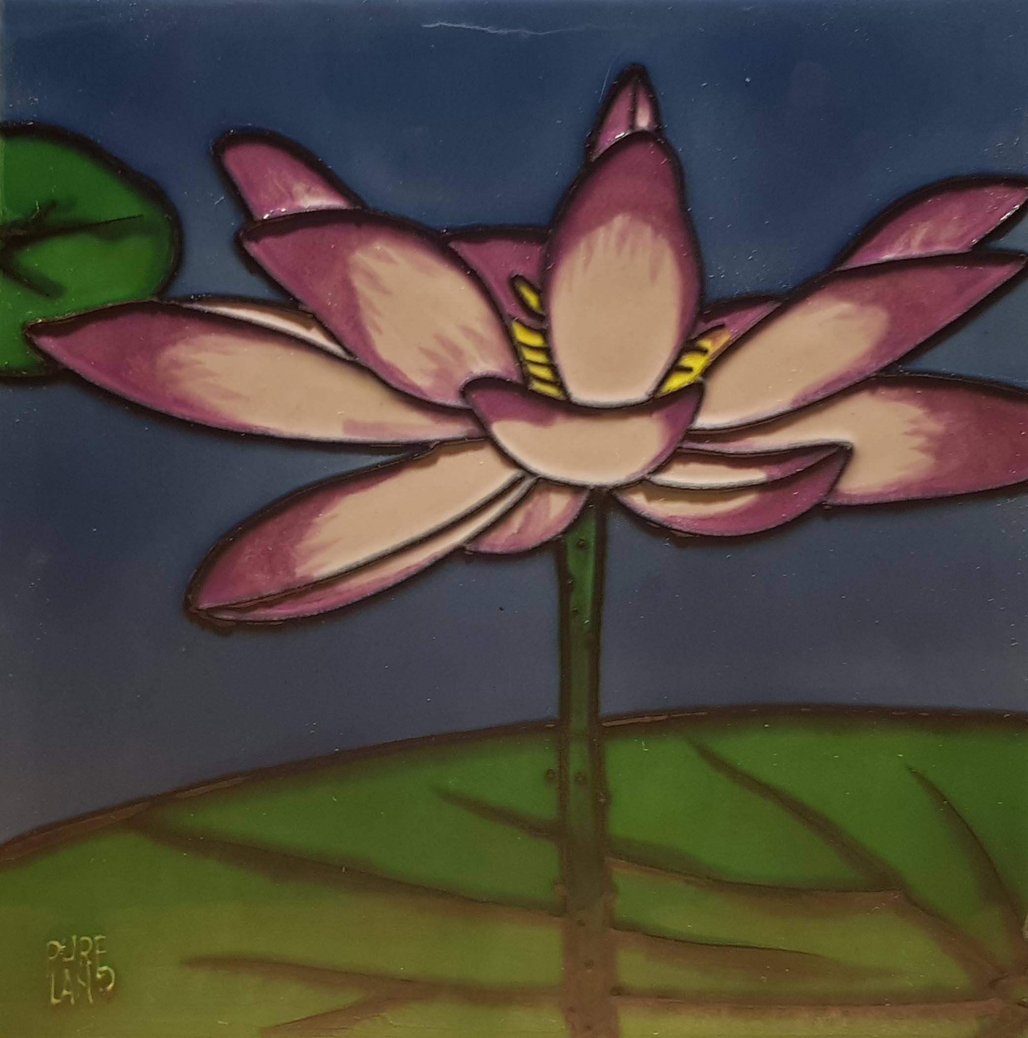 2294 Lotus Flower 20cm x 20cm Ceramic Tile