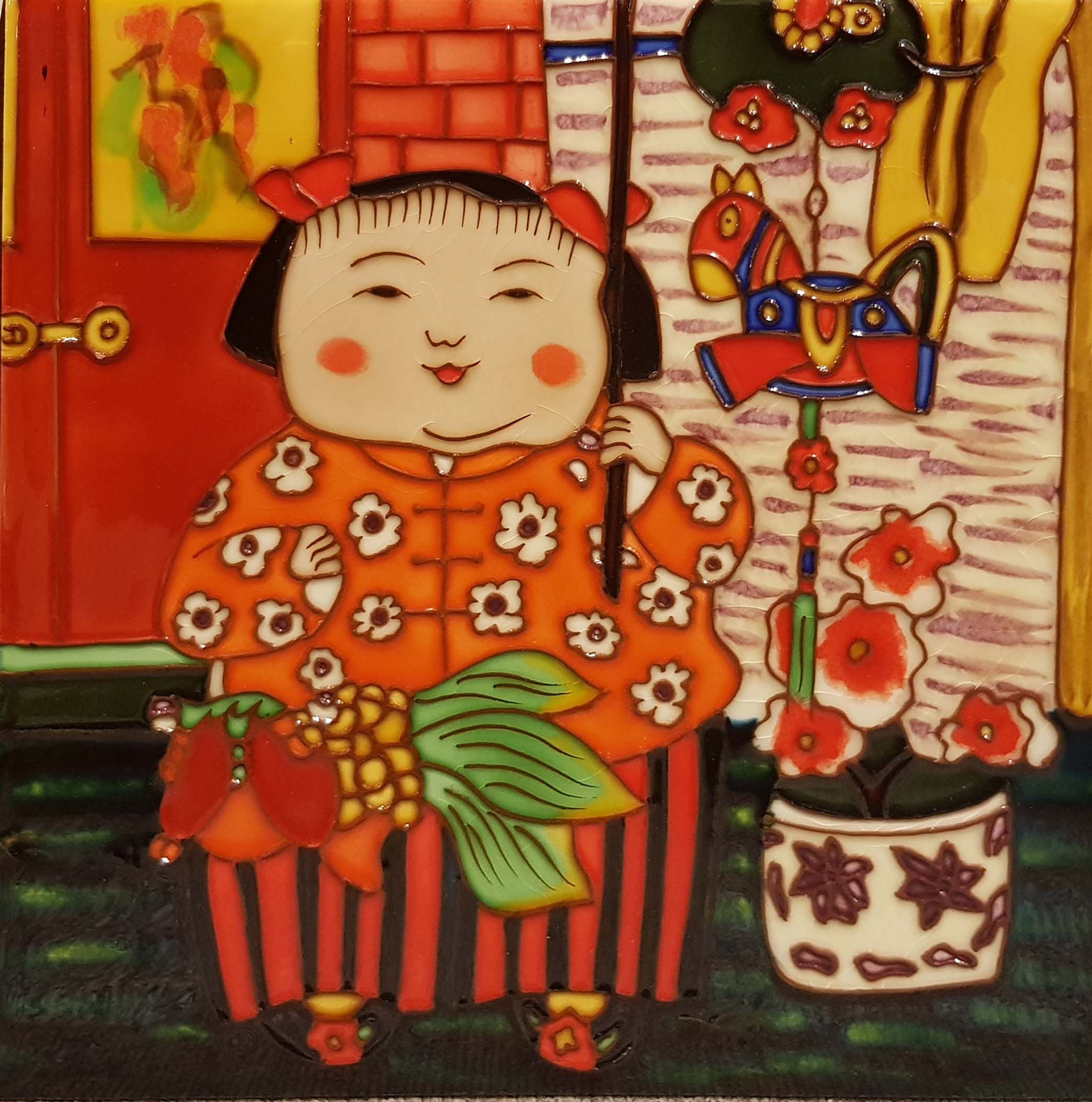 3961 Jade Girl 30cm x 30cm Ceramic Tile
