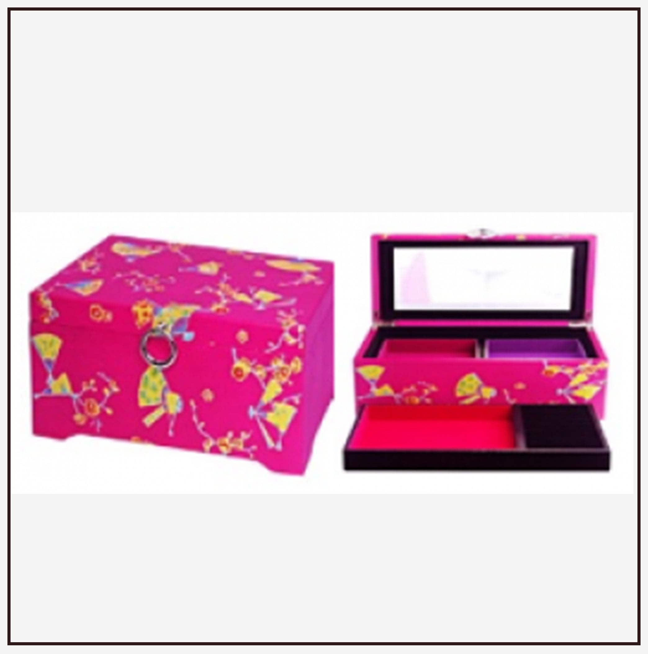 7332 Jewelry Box w/ 4 Tray