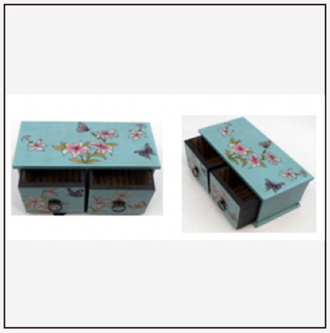 9515 Jewelry Box w/ 2 Drawers