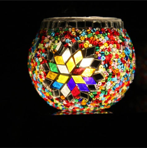 Turkish Mosaic Candle Holder (7cm) E