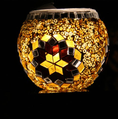 Turkish Mosaic Candle Holder (7cm) G