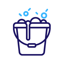 Soapy bucket icon