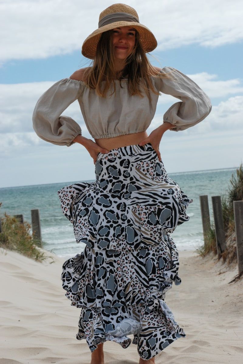 Animal Print Bora Bora Skirt