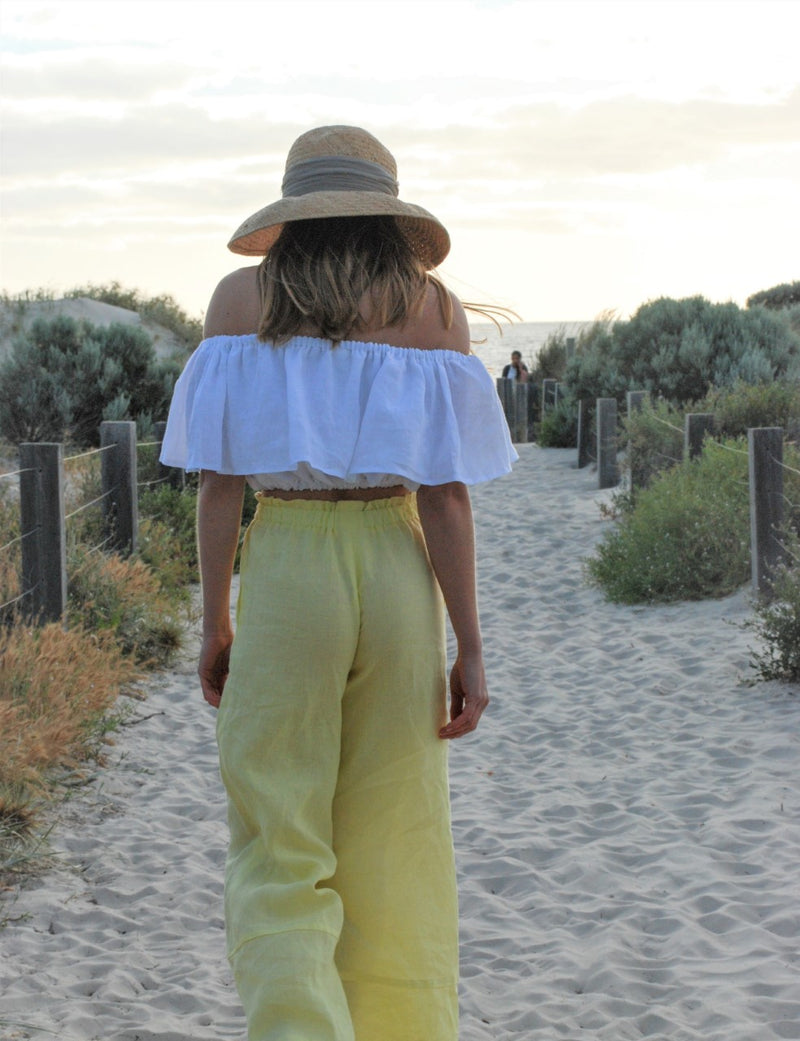 Willow linen Pant Lemonade