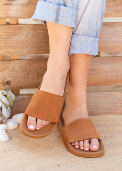 NOOSA Brown Suede Slides
