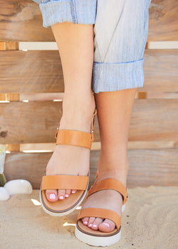 ELECTRA - Brown Leather  Sandals