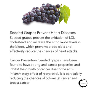 SEEDED grapes prevent heart diseases 🍇