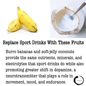 Replace sport drinks with these fruits 🥥🍌