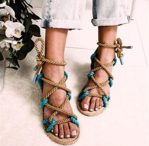 Hera - The rope around open toe sandal