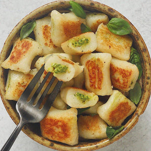 Pesto Stuffed Gnocchi